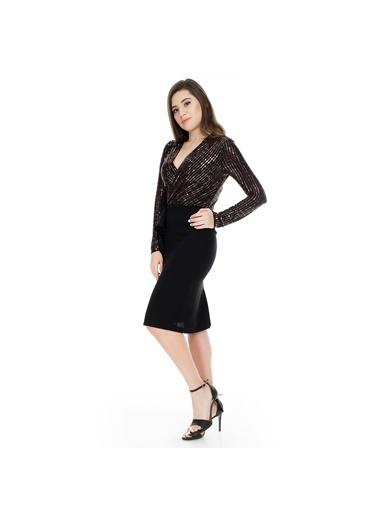Modailgi Elbise Bakır